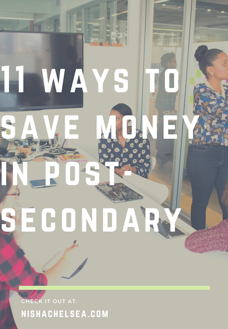 11 Ways To Save Money In Post-Secondary